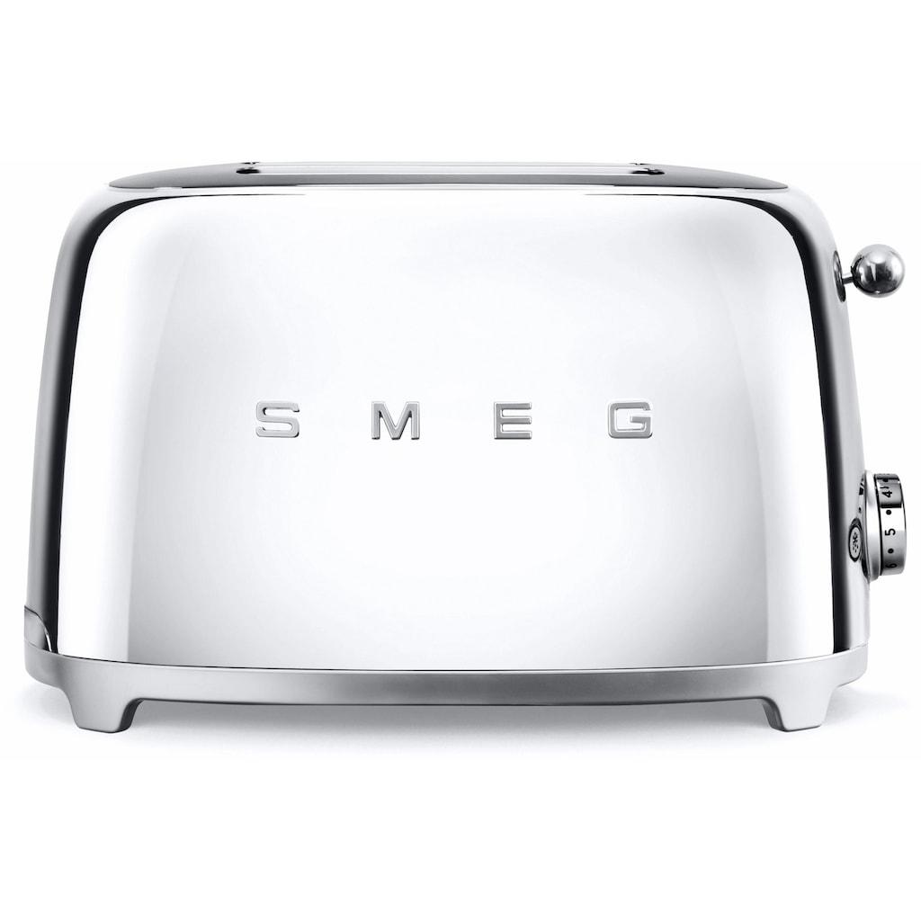 Smeg Toaster »TSF01SSEU«, 2 kurze Schlitze, für 2 Scheiben, 950 W