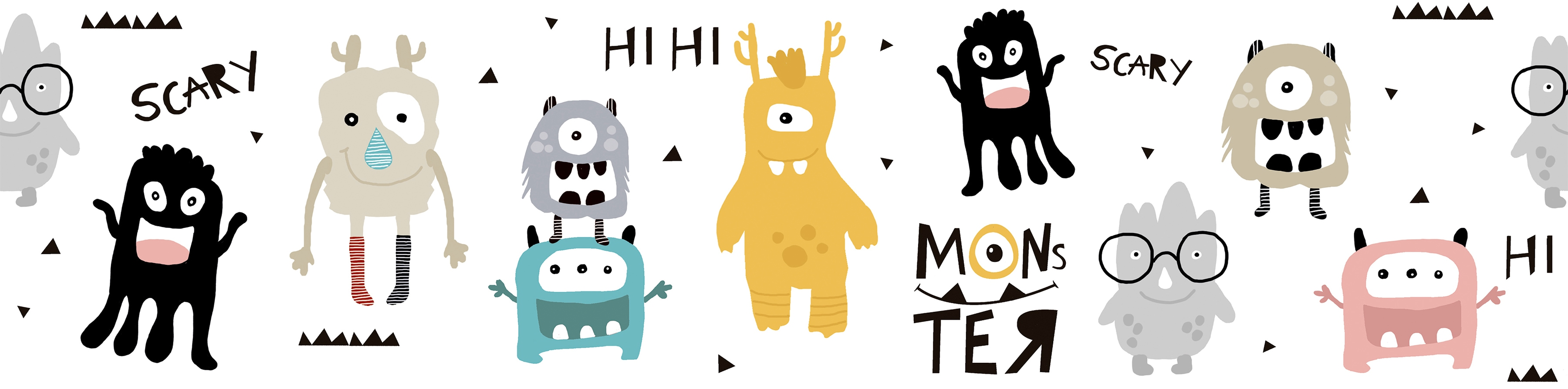 Bordüre »Monster Party«, für Baby- und Kinderzimmer, selbstklebend, PVC-frei   Baumarkt > Wand und Decke > Bordüren   A.S. Création