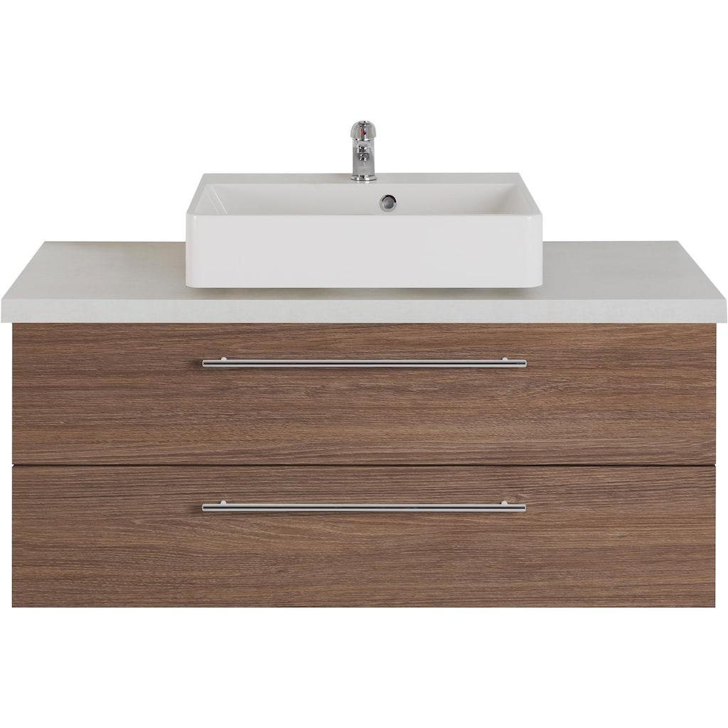 MARLIN Waschtisch »Laos 3110«, Breite 120 cm, Farbe Waschtischplatte & Waschbeckenart wählbar, Becken mittig