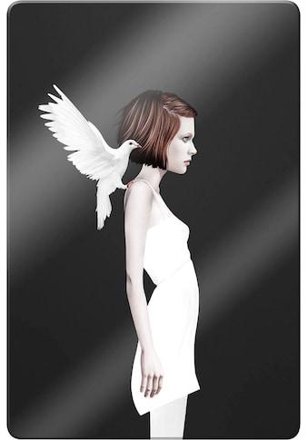 Glasbild »Ireland  -  Only you  -  Weiße Taube« kaufen