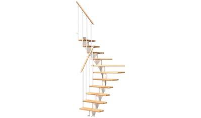 DOLLE Mittelholmtreppe »Frankfurt Buche 75«, bis 301 cm, Metallgeländer, versch. Ausführungen kaufen