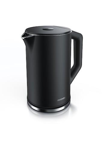 Arendo Edelstahl Wasserkocher mit Temperatureinstellung »ELEGANT 1,5 Liter in Schwarz« kaufen