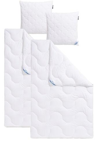 Beco Kunstfaserbettdecke + Kopfkissen »Antibac«, (Spar-Set), mit antbacterieller... kaufen