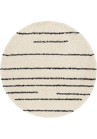 Hochflor - Teppich, »Fria«, andas, rund, Höhe 35 mm, maschinell gewebt kaufen