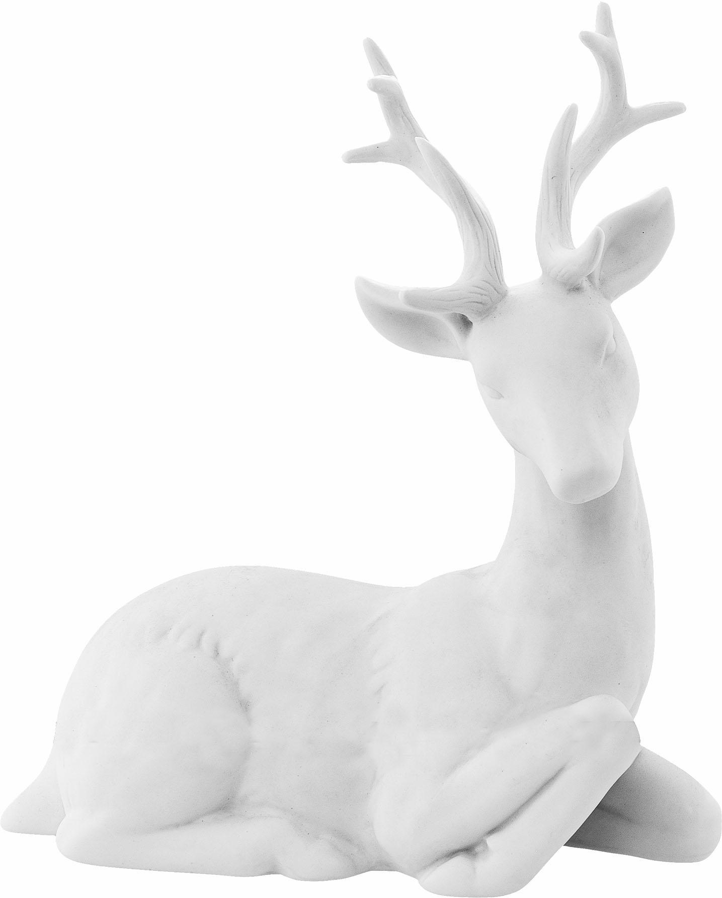 Bloomingville Dekofigur Hirsch | Dekoration > Figuren und Skulpturen > Tiere | Weiß | BLOOMINGVILLE A/S