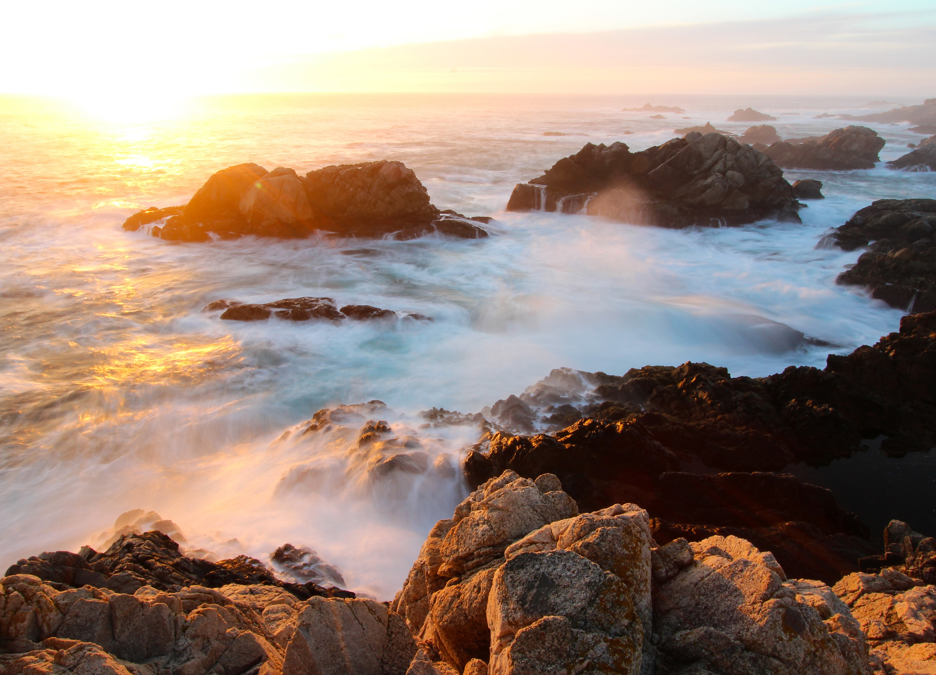 Fototapete »Sunset on Big Sur Coast« günstig online kaufen