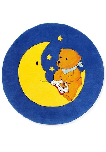 MONDBÄR Kinderteppich »MO-1337«, rund, 10 mm Höhe, Konturenschnitt, brillante Farben,... kaufen