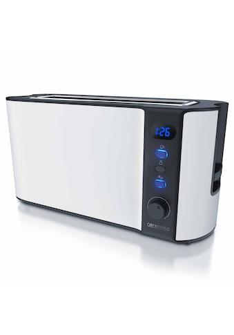 Arendo 2 Scheiben Langschlitz Toaster in Weiß matt »Frukost White / 1000W« kaufen