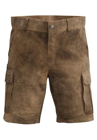 Spieth & Wensky Trachtenlederhose kurz Herren im Cargo - Hosen Stil kaufen