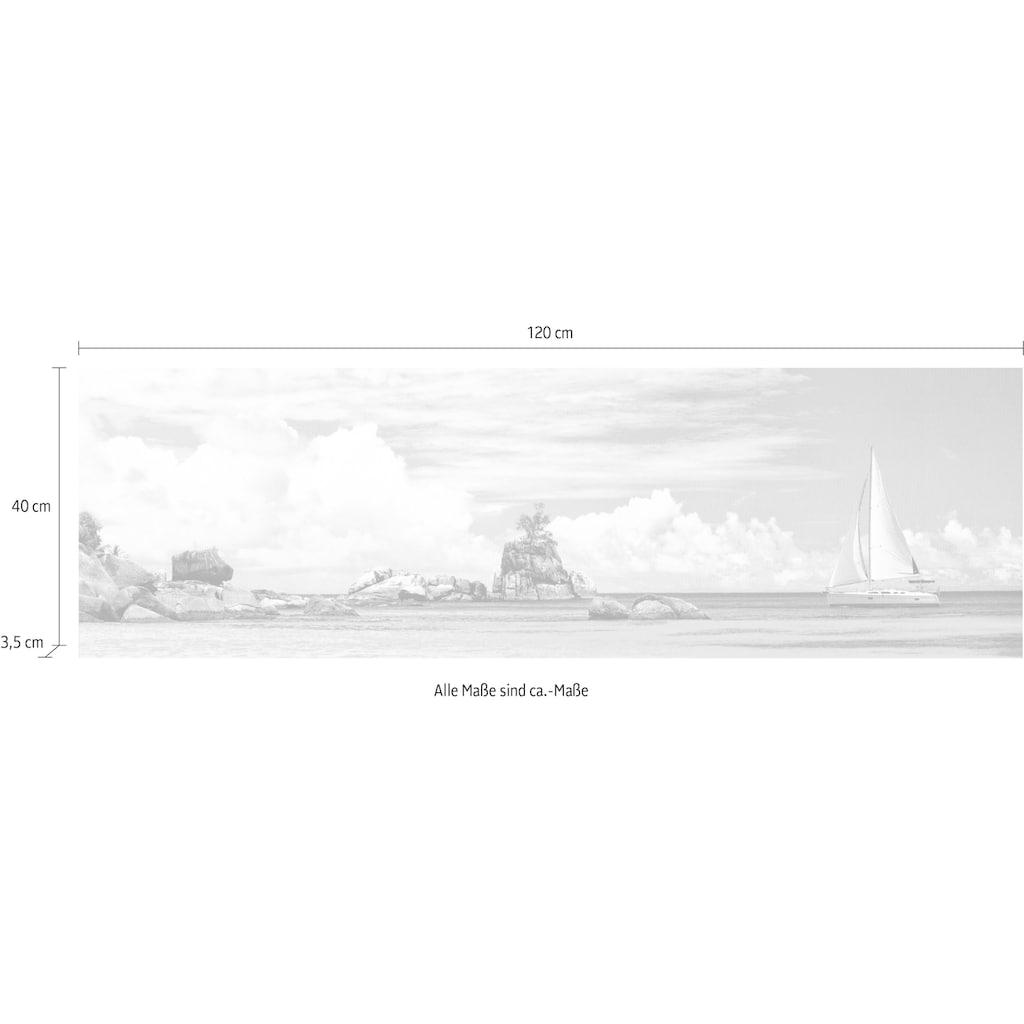 my home Deco-Panel »PANGEA IMAGES / Segelschiff bei den Seychellen«, (120/3/40 cm)