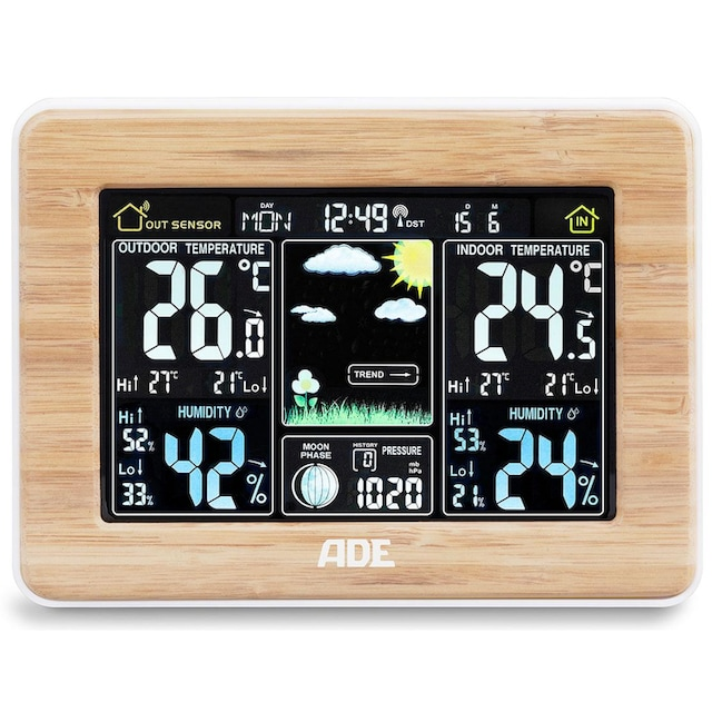 ADE »WS 1703« Funkwetterstation (mit Außensensor)