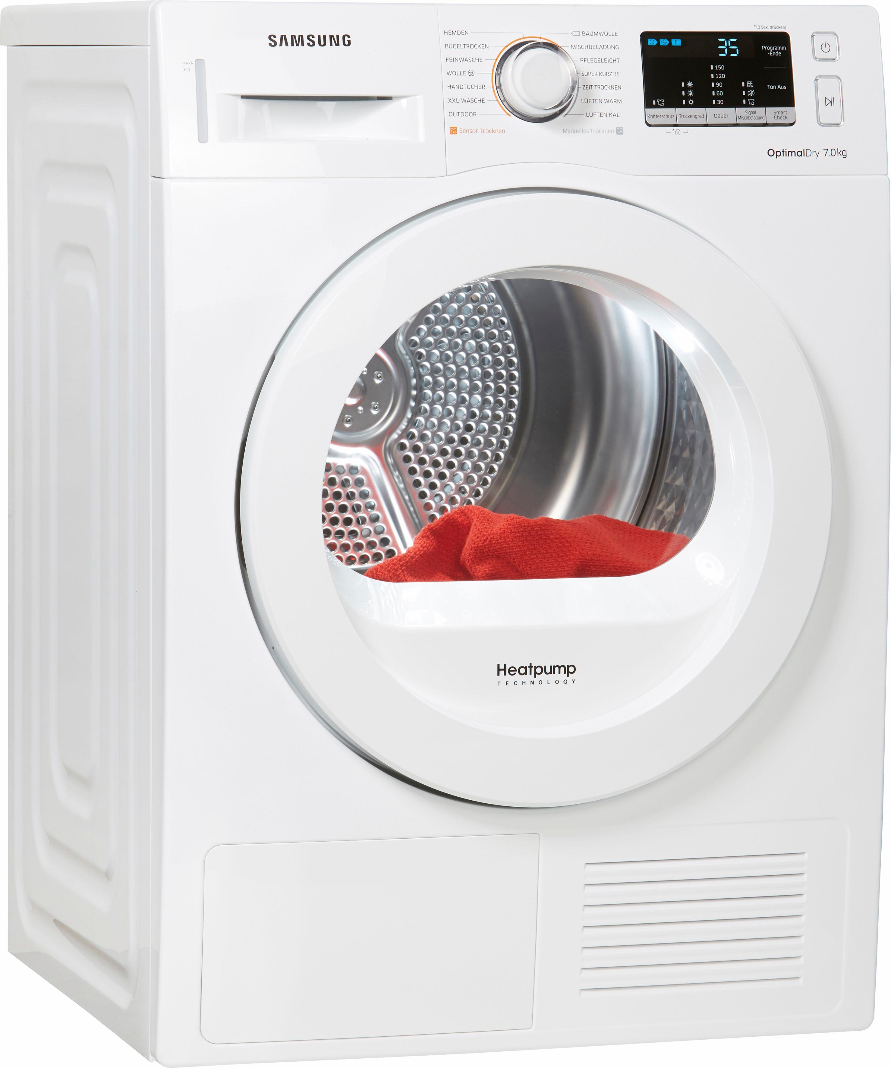 Samsung Wärmepumpentrockner DV4500 DV70M5020KW/EG, 7 kg   Bad > Waschmaschinen und Trockner   Weiß   SAMSUNG