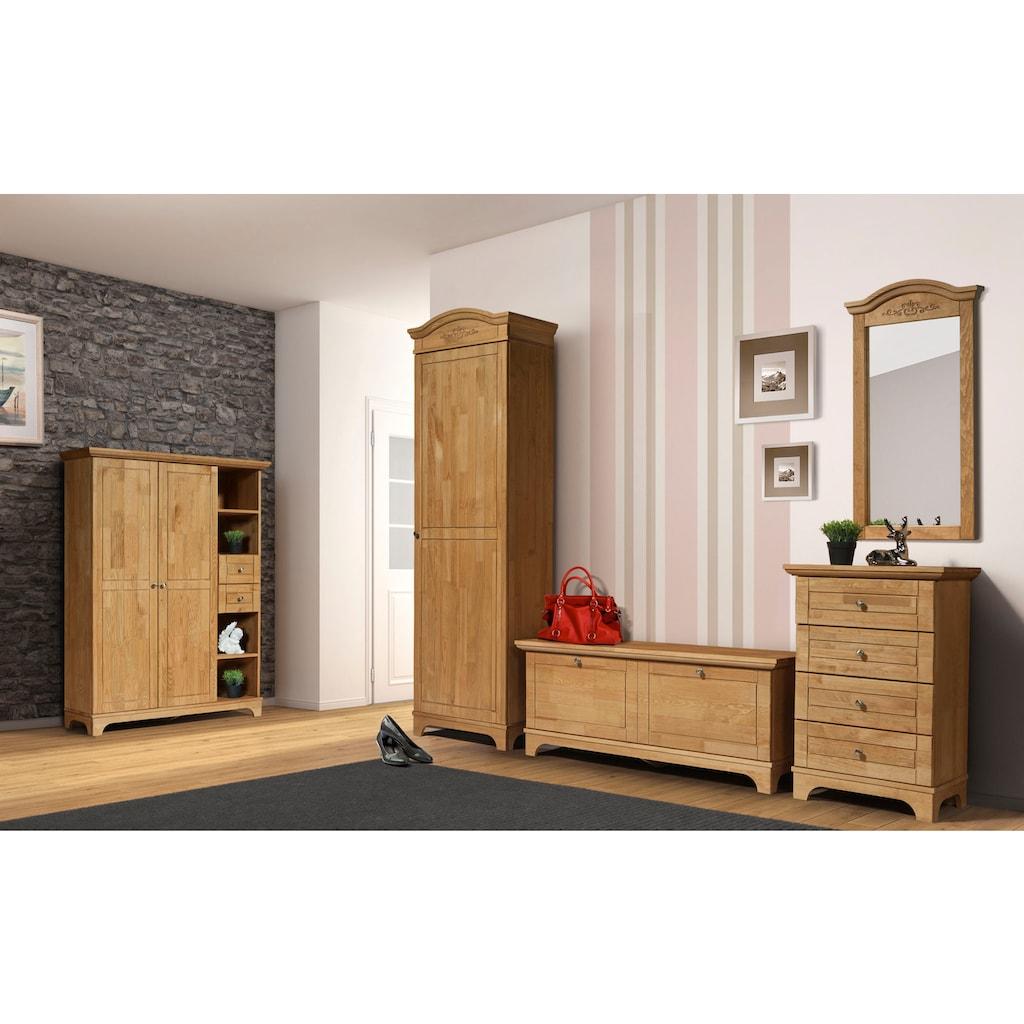 Home affaire Garderobenschrank »Viterbo«, aus Kiefer massiv, in 2 Farben