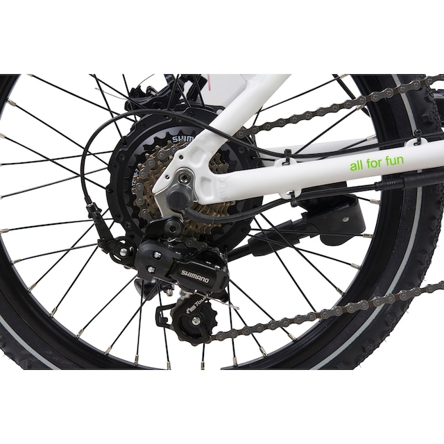 LLobe E-Bike »City III weiß«, 7 Gang Shimano Kettenschaltung, Heckmotor 250 W