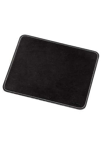 Hama Mauspad Mousepad in edler Lederoptik, schwarz »für optische und Lasermäuse« kaufen