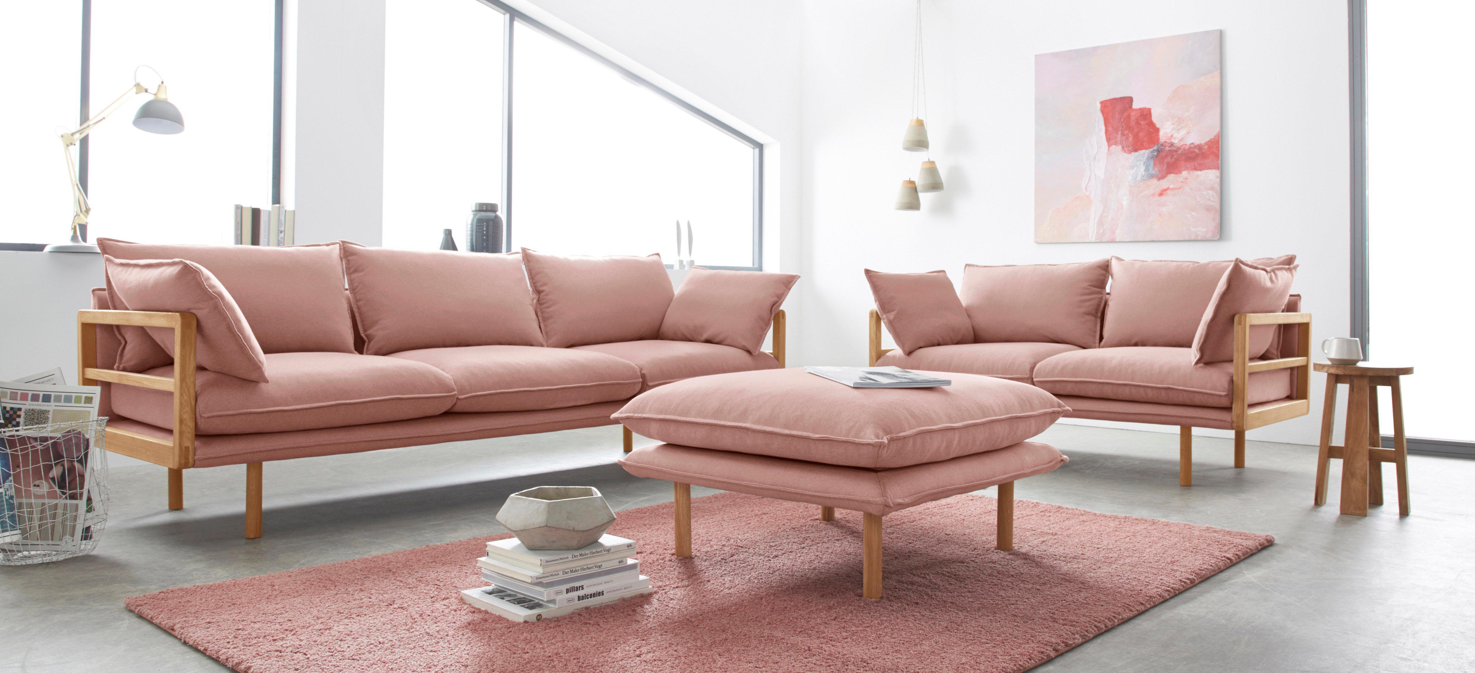 Inosign »Purple« 2  Und 3 Sitzer Im Set Mit Eichen Gestell In  Außergewöhnlichem Design