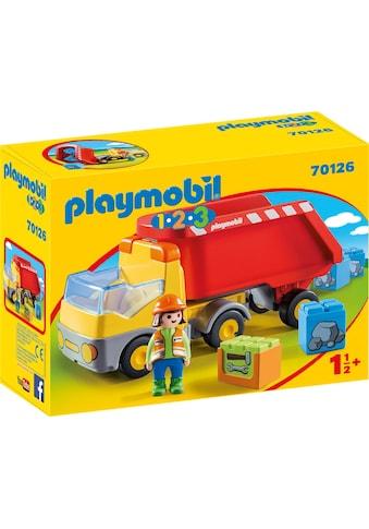 Playmobil® Konstruktions-Spielset »Kipplaster (70126), Playmobil 123«, Made in Europe kaufen