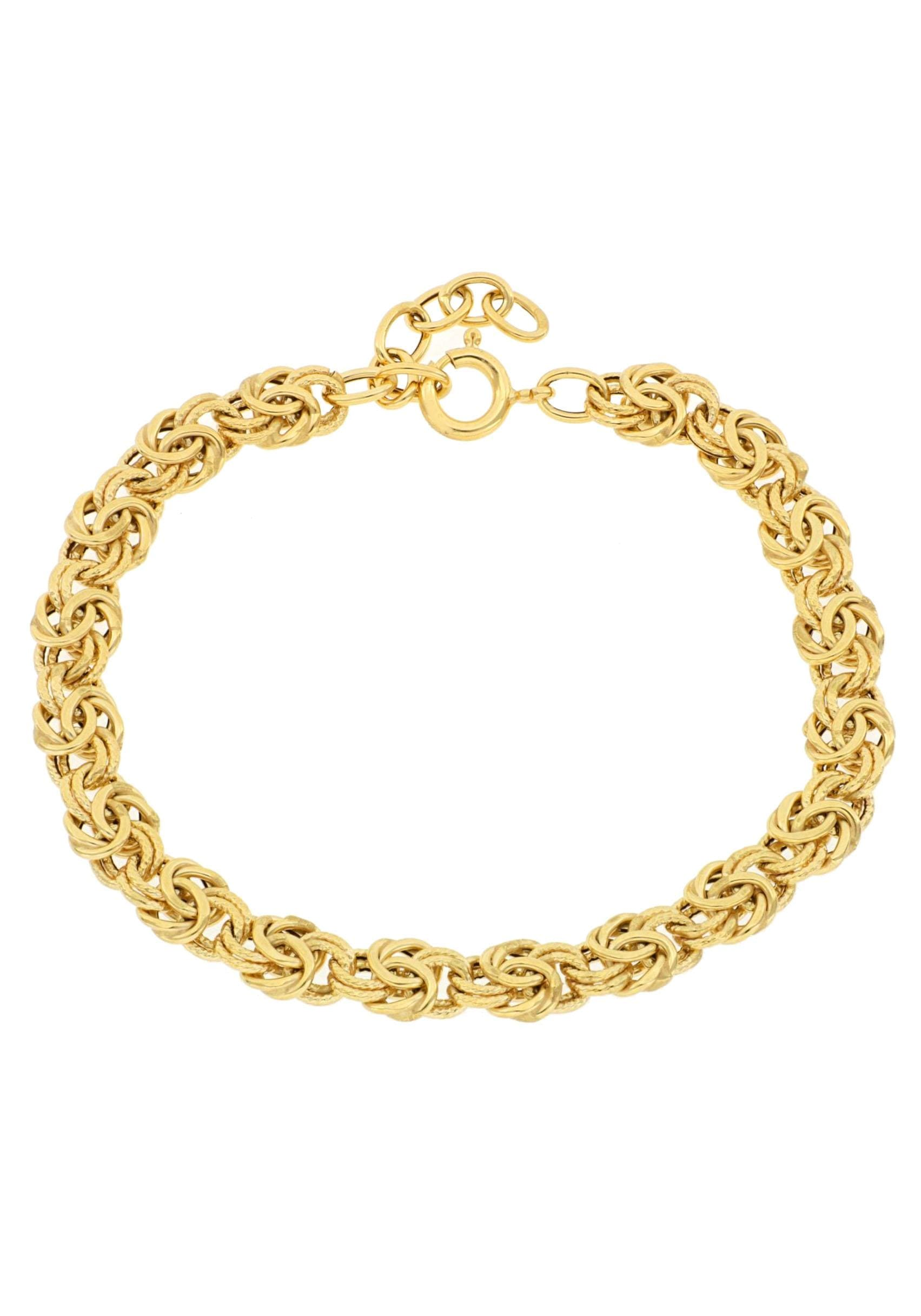 Firetti Goldarmband »Glanz, gleichlaufend, zisiliert, Königskettengliederung«   Schmuck > Armbänder > Goldarmbänder   FIRETTI
