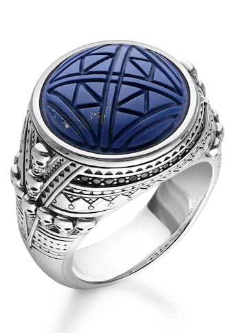 THOMAS SABO Silberring »TR2204 - 534 - 1 - 48, 50, 52, 54, 56, 58, 60, 62, 64, 66, 68, Ethno Totenköpfe blau« kaufen