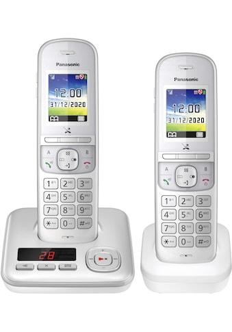 Panasonic Schnurloses DECT-Telefon »KX-TGH722 Duo«, (Mobilteile: 2), mit Anrufbeantworter kaufen