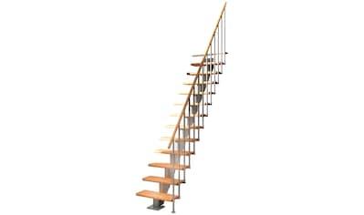 DOLLE Mittelholmtreppe »Frankfurt Buche 65«, bis 279 cm, Metallgeländer, versch. Ausführungen kaufen