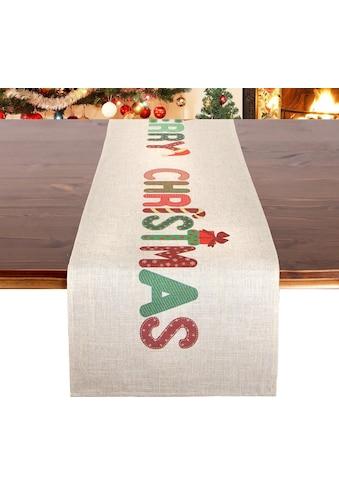 Delindo Lifestyle Tischläufer »MERRY CHRISTMAS«, (1 St.), Druckdesign, 185 g/m² kaufen