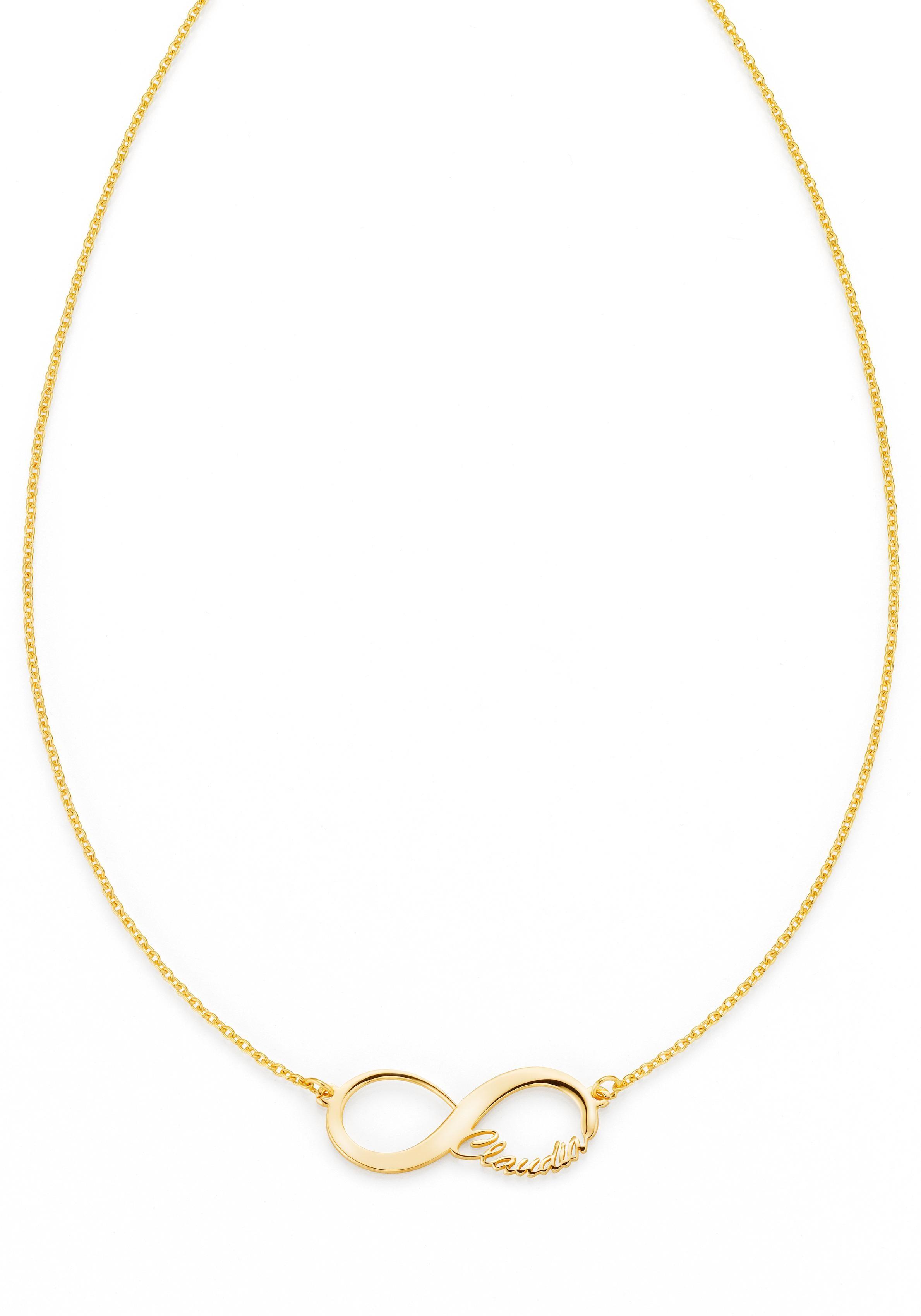 Firetti Namenskette »Infinity Unendlichkeitsschleife - individuell mit Namen gestalten« | Schmuck > Halsketten > Namensketten | FIRETTI