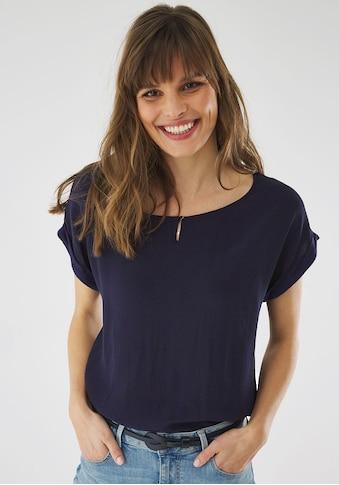 Mexx Blusenshirt, mit Knopf-Detail am Ausschnitt kaufen