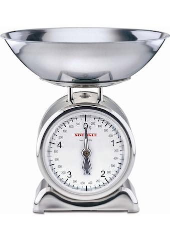 Soehnle Küchenwaage »Silvia«, (2 tlg.), mit Wiegeschale aus Edelstahl kaufen