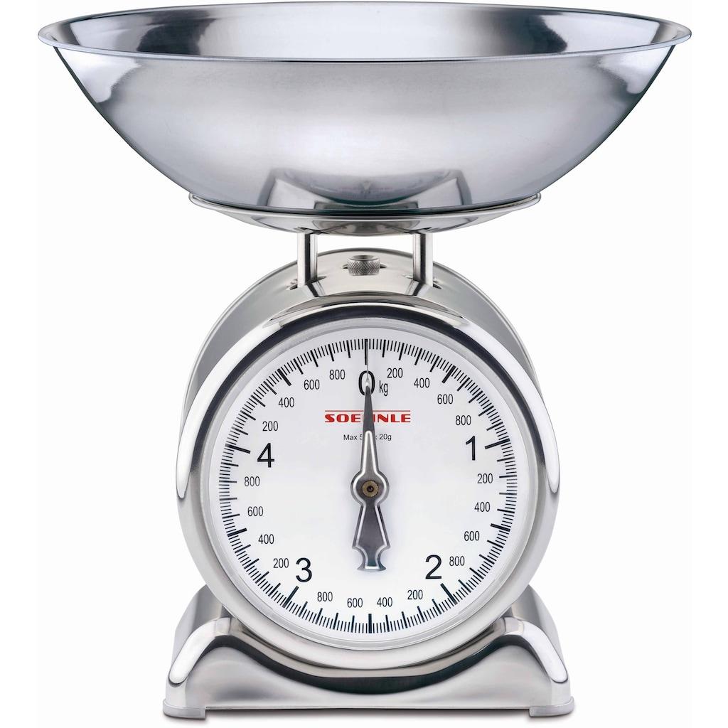 Soehnle Küchenwaage »Silvia«, (2 tlg.), mit Wiegeschale aus Edelstahl