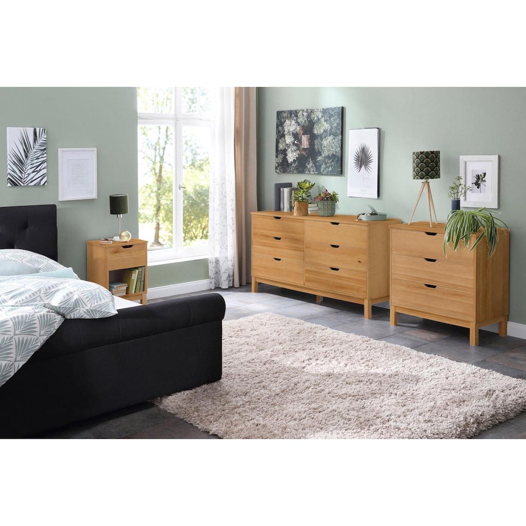 Home affaire Kommode »Post«, aus massivem schönen Kiefernholz, mit vielen Stauraummöglichkeiten, Breite 76 cm