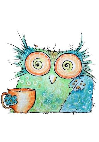 Wall-Art Wandtattoo »Vogel Kaffee Eule - Coffee Owl« kaufen