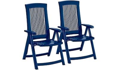 Best Gartenstuhl »Kansas«, 2er Set, Kunststoff, verstellbar, blau kaufen