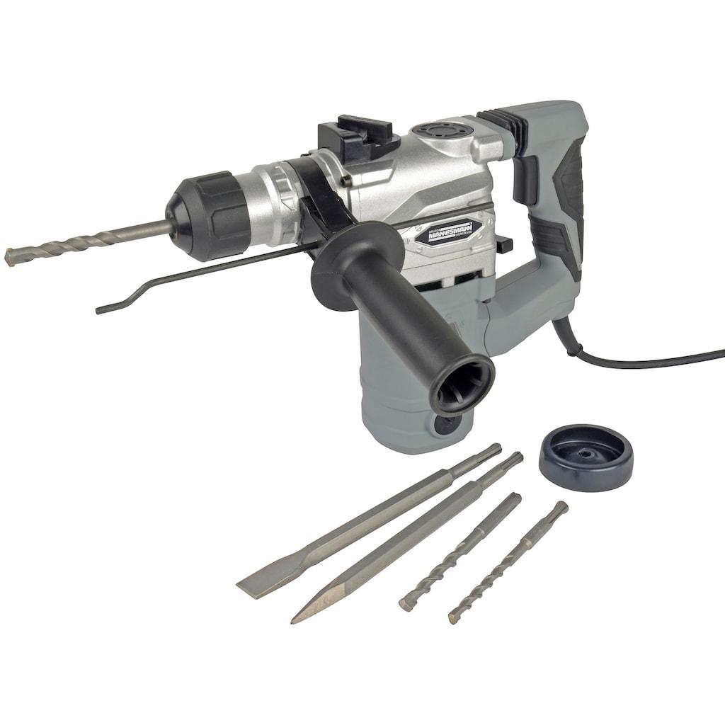 Brüder Mannesmann Werkzeuge Bohrhammer »Bohr- & Meißelhammer 900 W 3«, 900 Watt, mit Zubehör