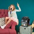 Auna LED Lichteffekt Karaoke Mikrofon schwarz
