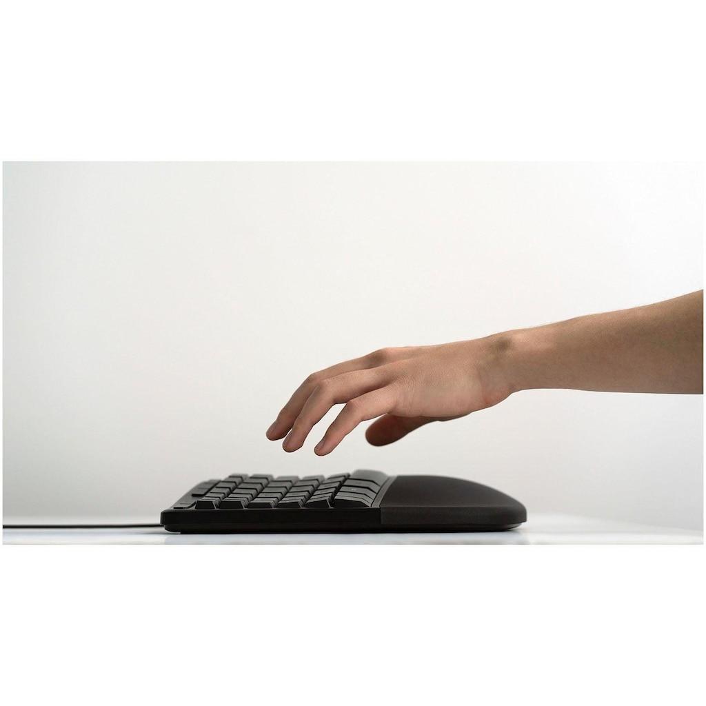 Microsoft ergonomische Tastatur »LXM-00006«, (ergonomische Form-USB-Anschluss)