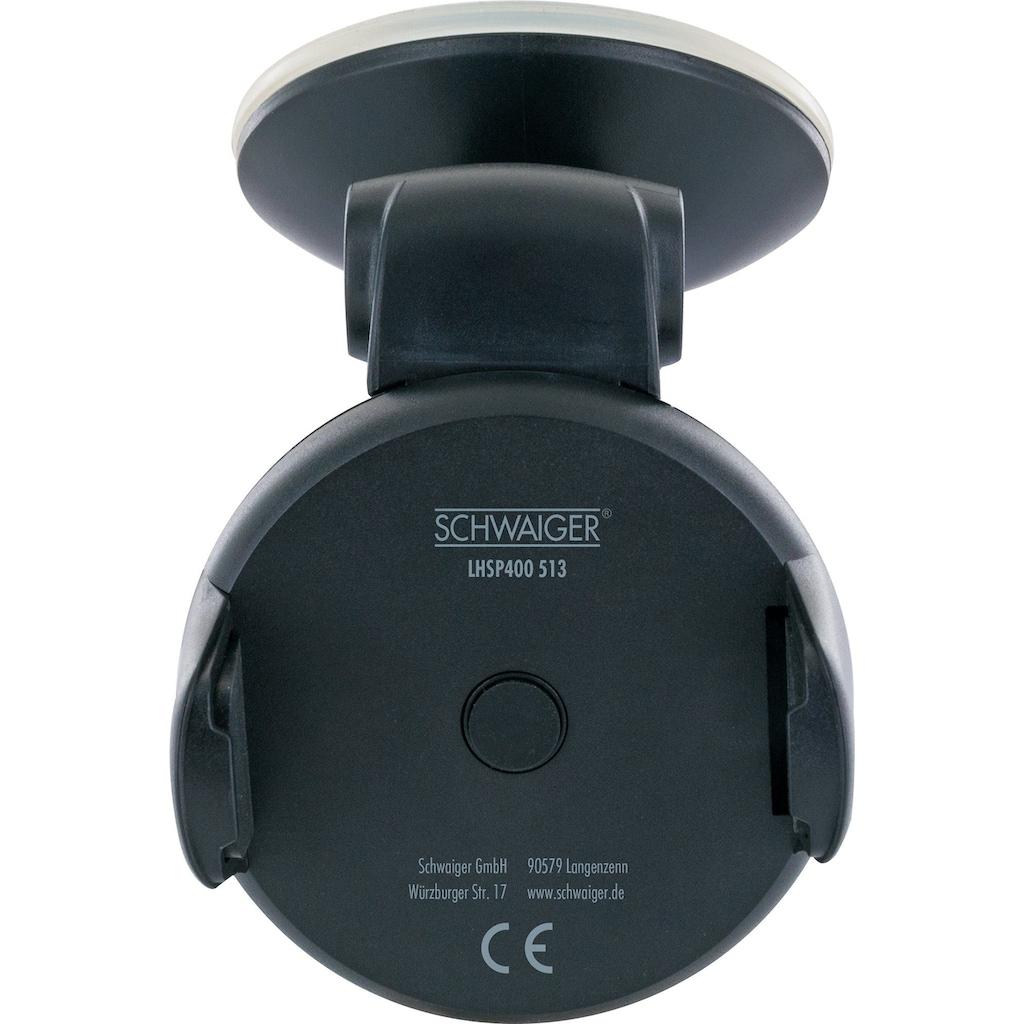 Schwaiger Universal Smartphone KFZ Halterung, 360° drehbar, 6 Zoll »für die Windschutzscheibe«