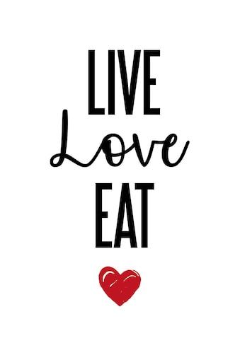 queence Wanddekoobjekt »LIVE LOVE EAT« kaufen