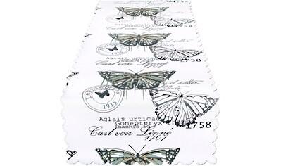 Delindo Lifestyle Tischläufer »Schmetterlinge«, Strukturgewebe, bedruckt kaufen