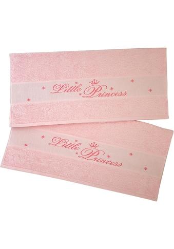 Dyckhoff Handtücher »Little Princess«, (2 St.), mit eingewebten Schriftzug kaufen