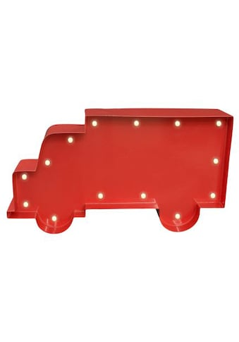 MARQUEE LIGHTS LED Dekolicht »LKW Transporter«, 1 St., Warmweiß, Wandlampe, Tischlampe T-Truck mit 14 festverbauten LEDs - 23cm Breit und 13cm hoch kaufen