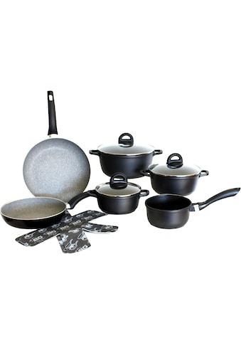 Elo - Meine Küche Topf-Set »Black«, Aluminiumguss, (Set, 10 tlg.), mit hochwertiger... kaufen