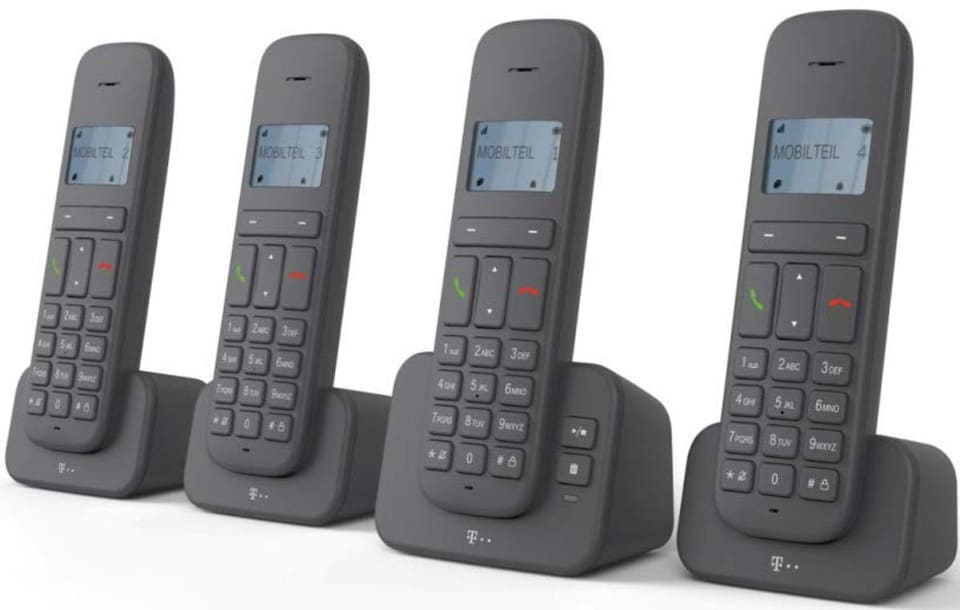 telekom telefon schnurlos ca 37 quattro auf raten kaufen. Black Bedroom Furniture Sets. Home Design Ideas