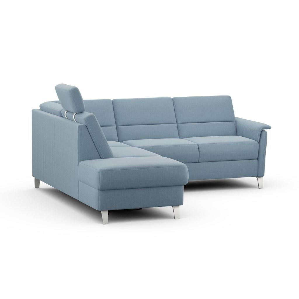 sit&more Ecksofa, wahlweise mit Bettfunktion und Stauraum