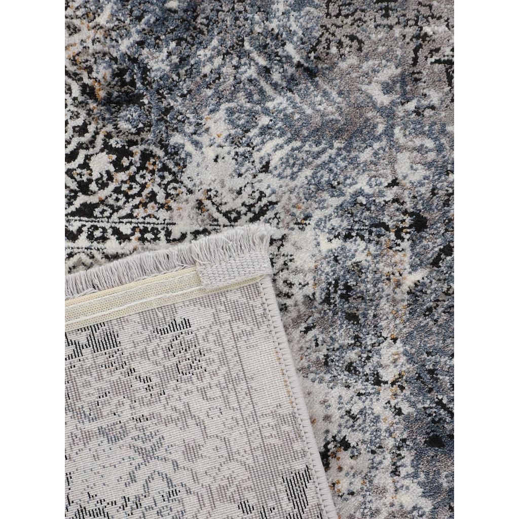 carpetfine Teppich »Vintage Liyath«, rechteckig, 8 mm Höhe, hoher Viskoseanteil, im Vintage Look, Wohnzimmer
