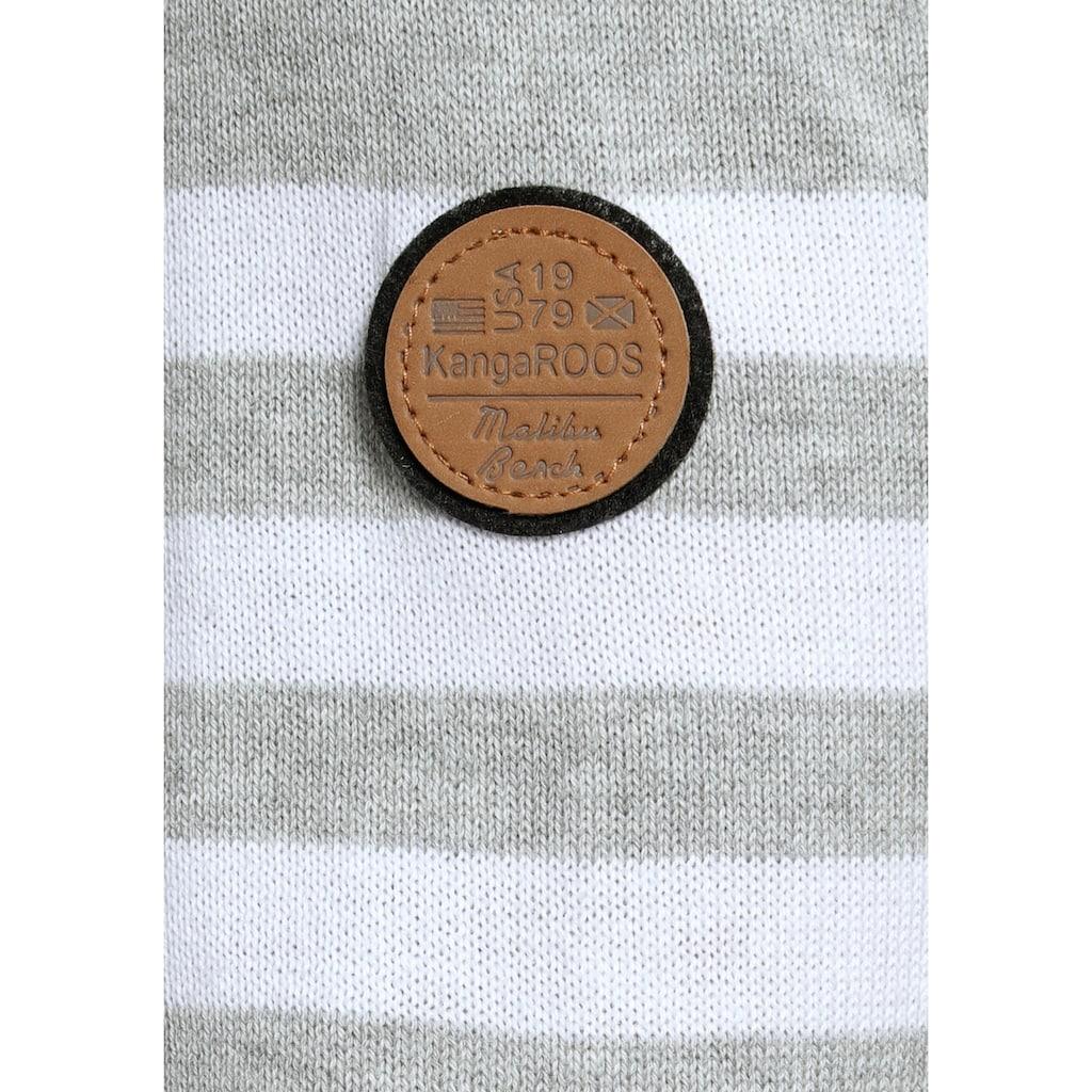 KangaROOS Rundhalspullover, in modischer Streifenoptik