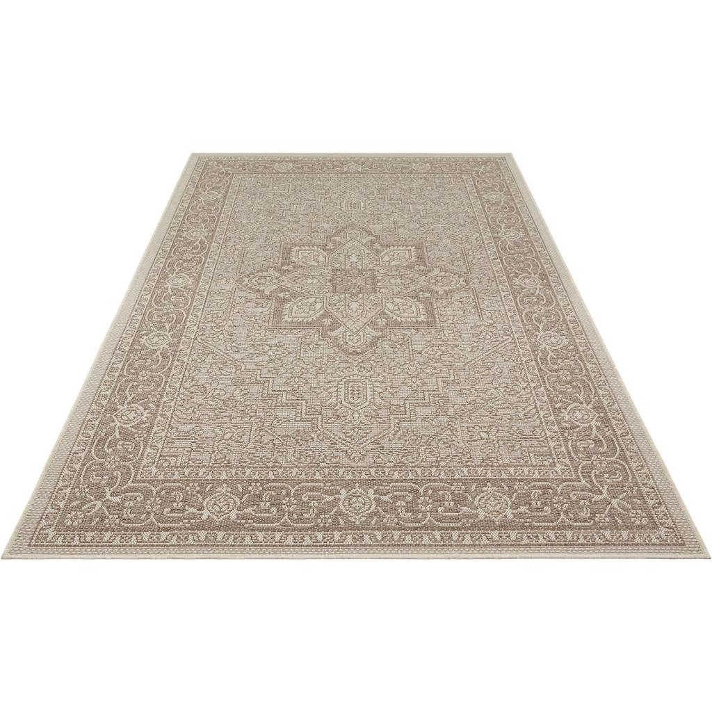 bougari Teppich »Anjara«, rechteckig, 4 mm Höhe, In- und Outdoor geeignet, Flachgewebe, Wohnzimmer