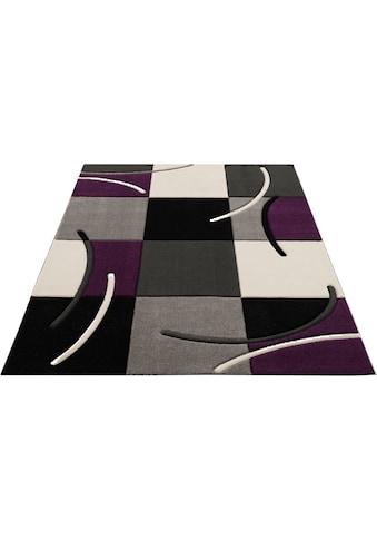 my home Teppich »Kjer«, rechteckig, 18 mm Höhe, mit handgearbeitetem Konturenschnitt,... kaufen