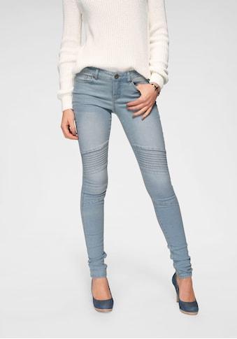Arizona Skinny-fit-Jeans »im Biker- Look«, Low Waist kaufen