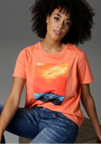 Aniston CASUAL T-Shirt, mit stimmungsvoller Sonnenuntergangs-Applikation kaufen